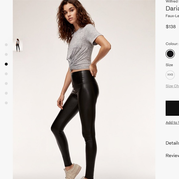 02f865ac416320 Aritzia Pants | Wilfred Free Daria Pant Leather Leggings | Poshmark